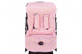 Хлопковый матрасик в коляску Mammie — розовый